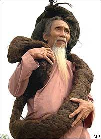 dünyanın en uzun saçlı adamı