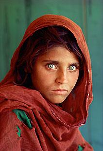 Efsanevi Afgan kız. Steve McCurry