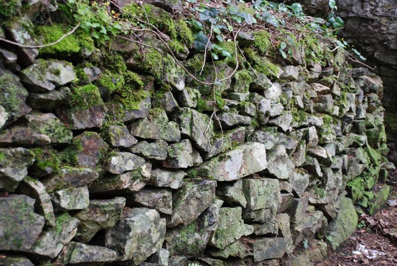 Sümela yollarından bir duvar örneği